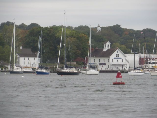 "Passing by Essex. We spent many years on a mooring at ""The Chandlery."""