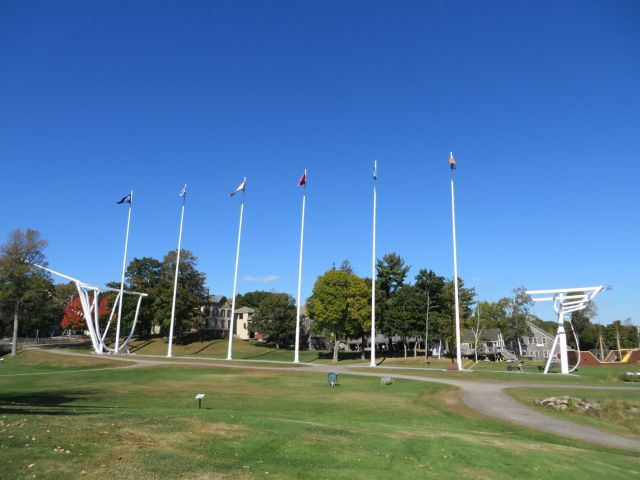 "The six ""masts"" represent the Wyoming."