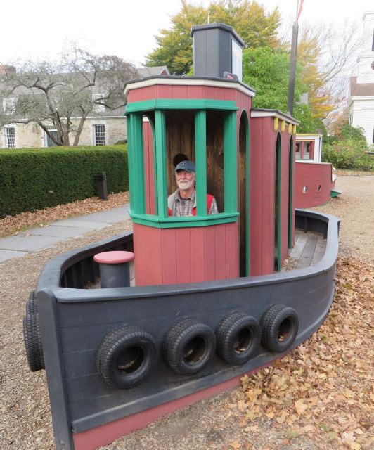 Al captains the playground's  tug boat. I think we better bring the grandchildren here,