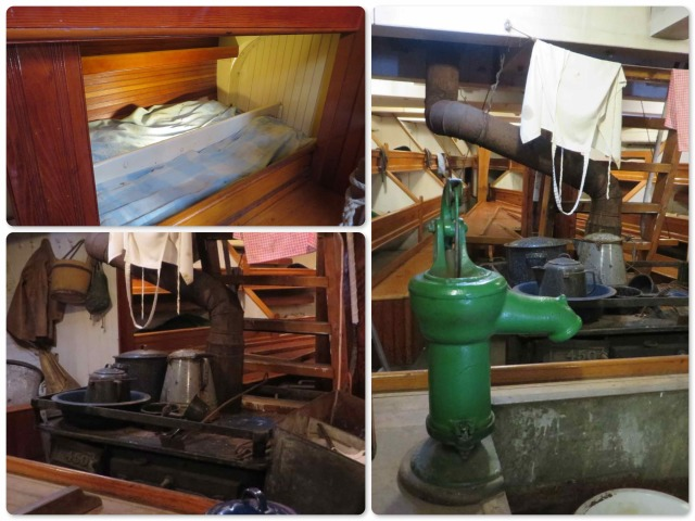 A look around below decks on the Dunton helps one really appreciate today's boat interiors! The galley and guest cabin on Kindred Spirit are far better than this even before our renovations are completed!