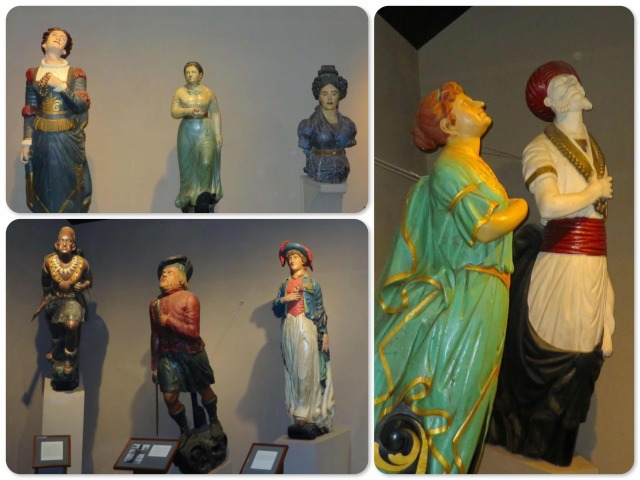An interior exhibit of figureheads from old ships. They really are works of art and must take some abuse hanging out there onto bowsprit of an ocean going vessel!