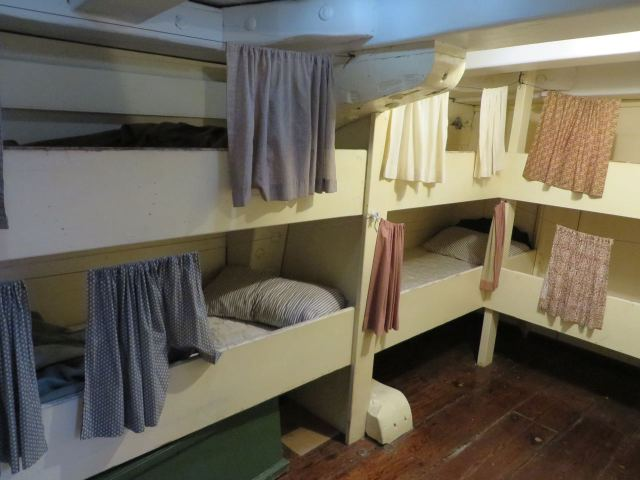 The bunks on the Morgan look like a tight squeeze. There were 24 just in the this section of the bow, and they were used on the 38th voyage this summer!