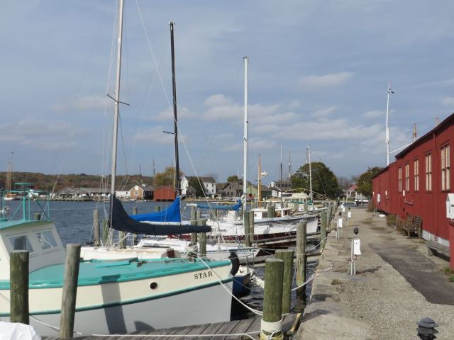 Mystic seaport docks