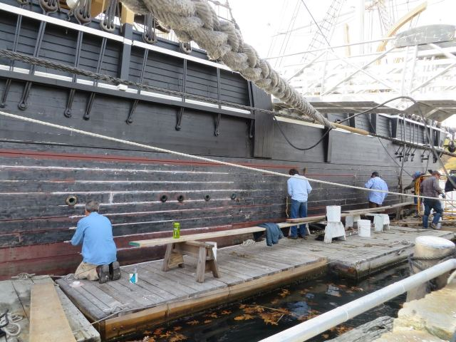 The work of restoration never ends on an old vessel.
