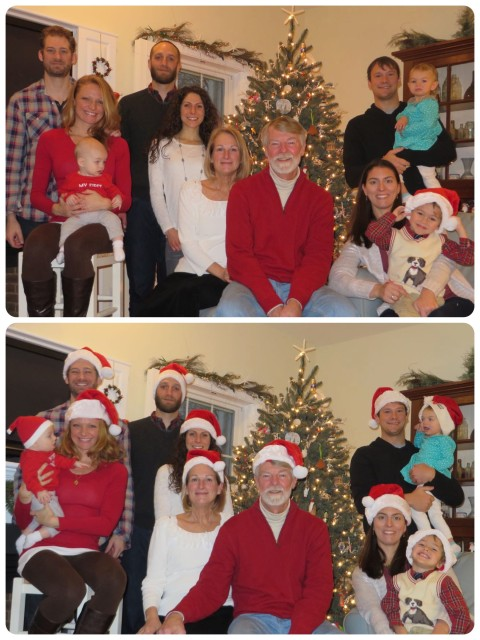 We just had to have a group photo, but between timers on cameras and wiggling grandchildren, it became quite a challenge!