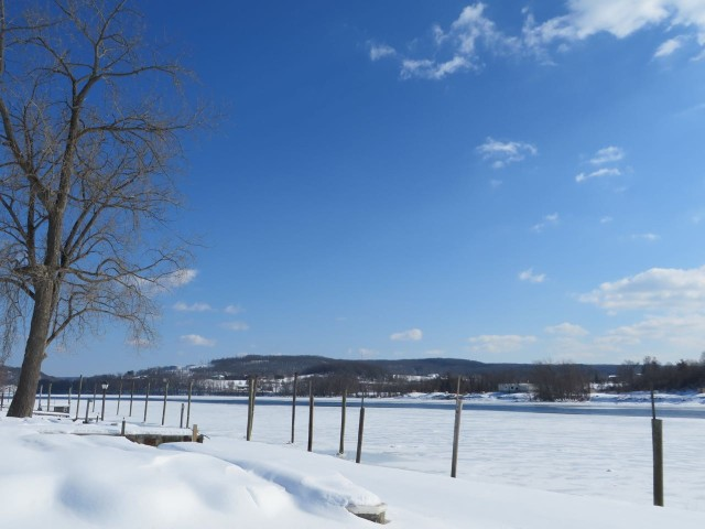 A view of the Connecticut River from Riverside Marina in Portland. That's ice out that.
