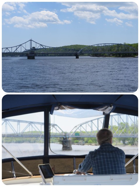 Approaching Haddam Swing Bridge