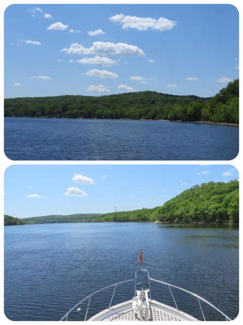 Heading south on the Connecticut River. It was a chilly but beautiful day.