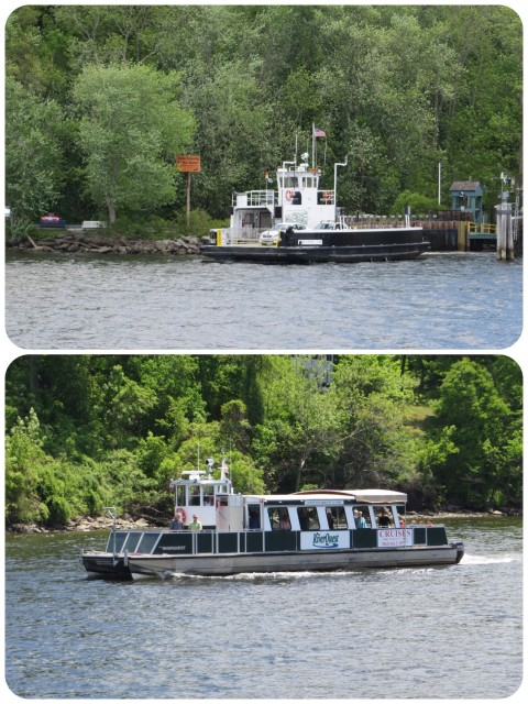 And then there was the friendlier watercraft that we passed - the little Gillette Castle ferry and the Riverboat Cruise.