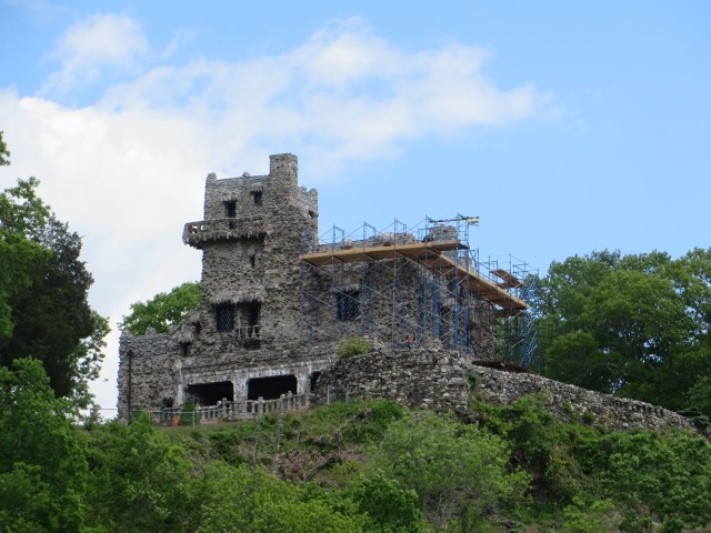 Gillette Castle was the next river landmark. We noticed the scaffolding - getting a facelift?
