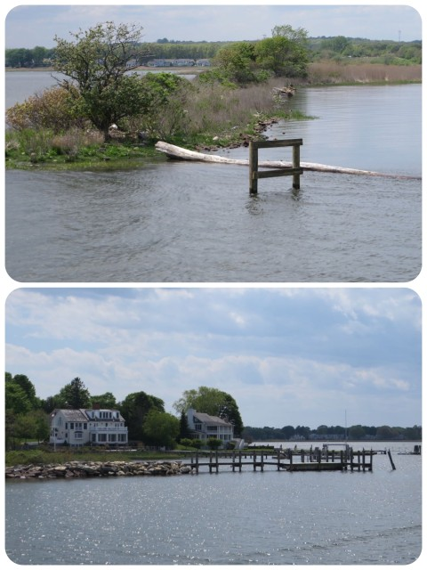 The entrance to North Cove in Old Saybrook.