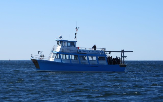 The Project Oceanology boat out of UCONN's Avery campus was also out that morning.