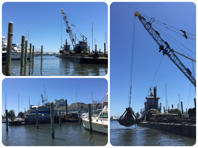 Dredging at Shennecossett Yacht Club