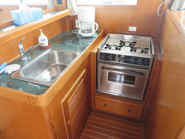 The galley on the day we first saw the Mariner Orient.