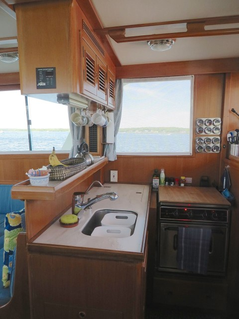 A view of the finished galley