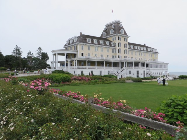 I know, I know, I have posted photos of the Ocean House before, but I can't resist. It is such a landmark. The gardens around the croquet court were in bloom.