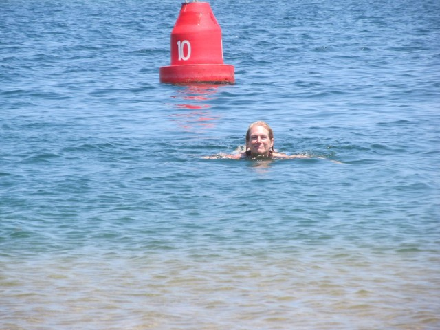 First swim of the year for me! Thank you for the pic, Marcia! It is always good to have proof.