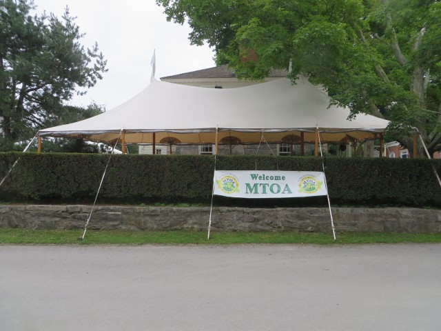 The MTOA tent where we met and ate.