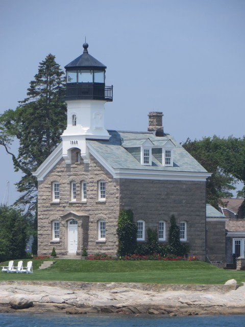 Morgan Point Lighthouse is now  a private residence, but remains a visual landmark for marine traffic.