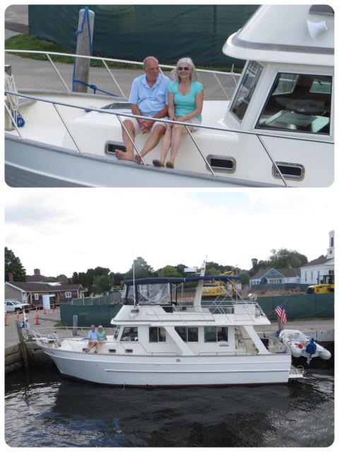 Rob and Anita on Pub Trawler
