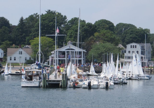 Ram Island Yacht Club - someones' getting ready for sailing lessons or racing.