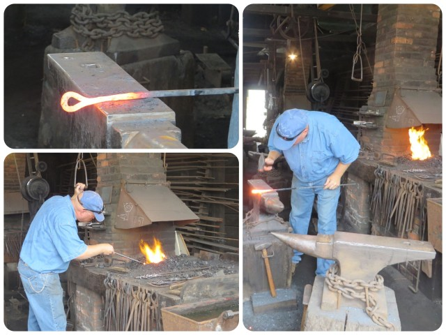 My favorite was the blacksmith. He was excellent at explaining the work.
