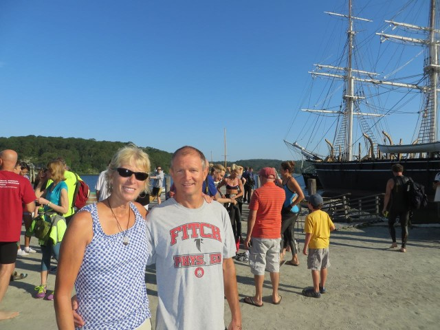 Dan and Marcia, before the SharkFest Swim. Go, Dan!!!