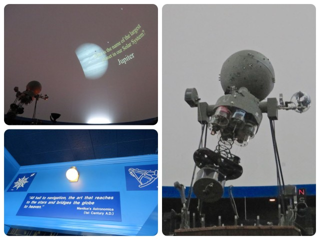 Inside the planetarium.