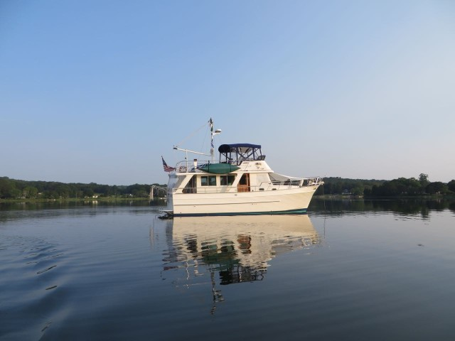 A peaceful anchorage, just a short dinghy ride from the docks.