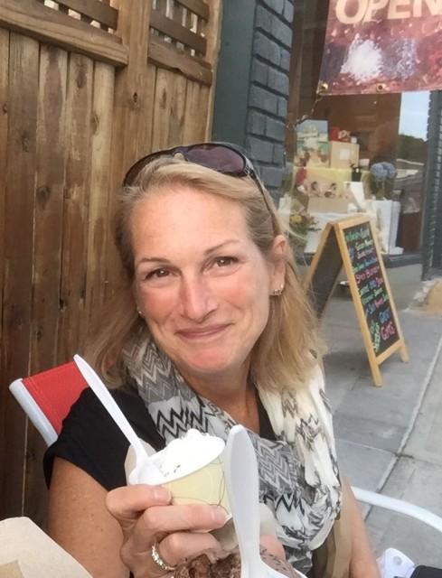 Ending with ice cream at Mystic Drawbridge – Lemon Chocolate Kiss, again!