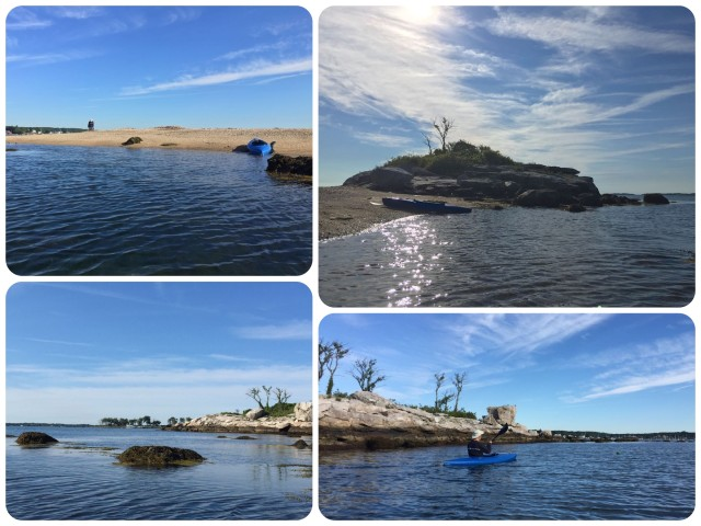 Kayaking around the rocky little islands