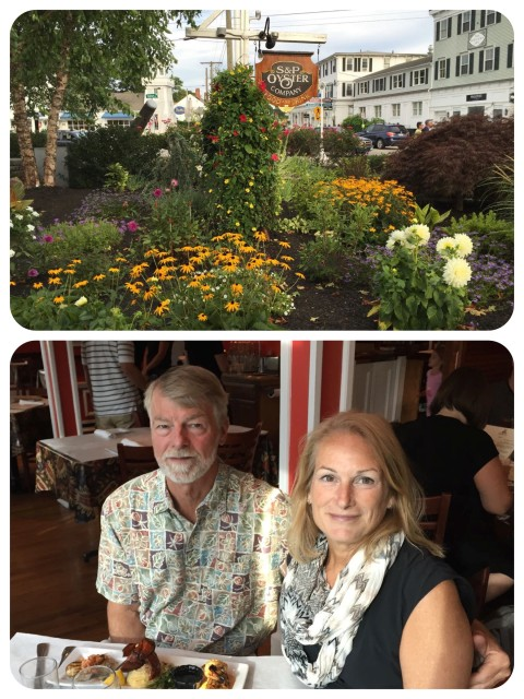 We had a delightful dinner at S&P Oyster in Mystic, overlooking the river and the drawbridge.