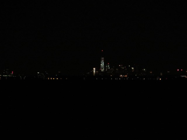 The lights of lower Manhattan