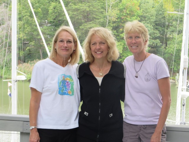 Reunion of cruising girls - me, Mary Marie, and Marcia. (Is that 3 Ms??) Missing YOU, Annette!