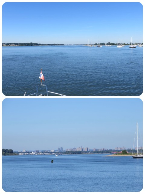 Exiting Manhasset Harbor on a beautiful September morning.