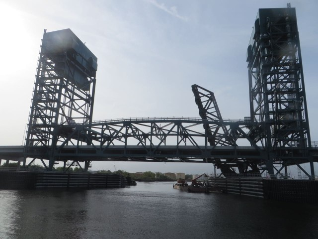 The new 35 foot Gilmerton Bridge - we can pass under it and not wait around for an opening!