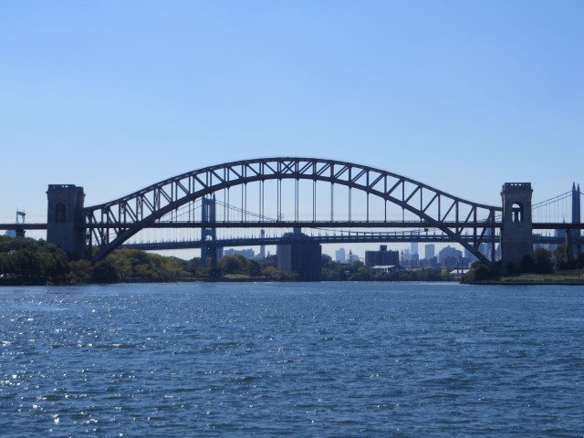 Approaching Hell Gate Bridge