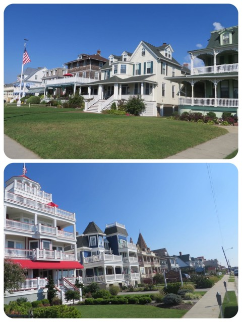 Large older homes and inns lined the beach front road.
