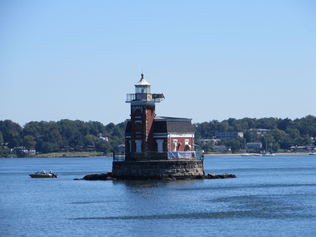 This lighthouse seems to have no name, not even on the charts.
