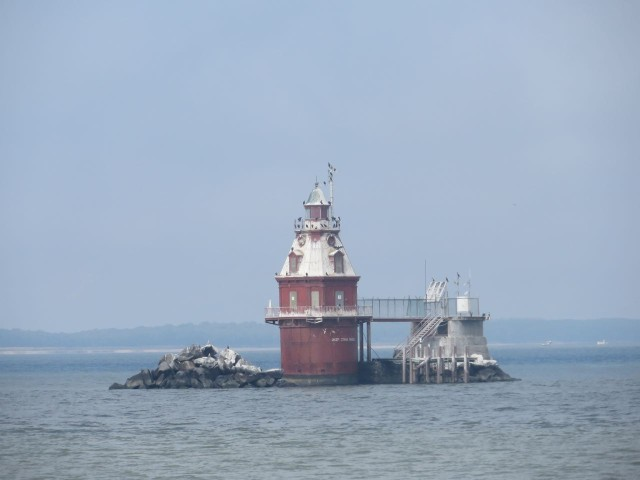 Ship John Shoal Light was the only thing worthy of a photo throughout the day.