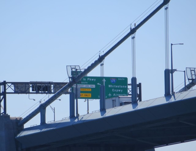Signs up on the Whitestone Bridge