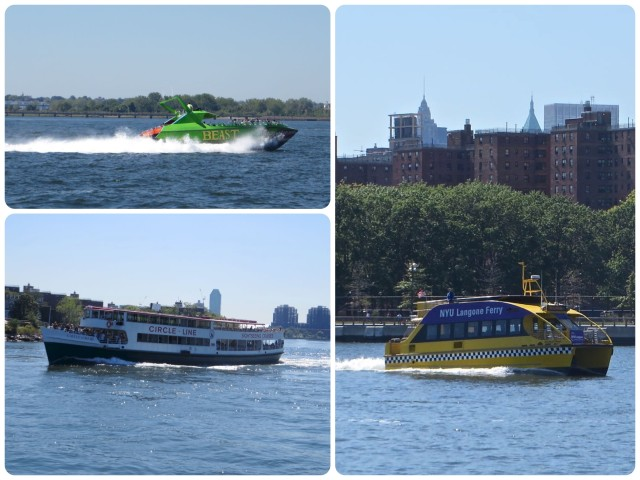 "All kinds of water craft - ""The Beast"", a yellow taxi-style ferry, the Circle Line tour."