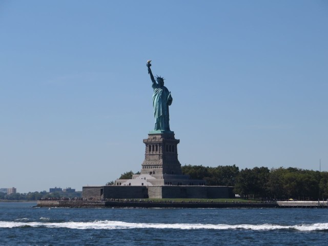 The Statue of Liberty. My photos on our previous trips were much better.
