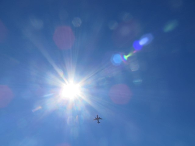 Planes from LaGuardia flew overhead, one right after another.