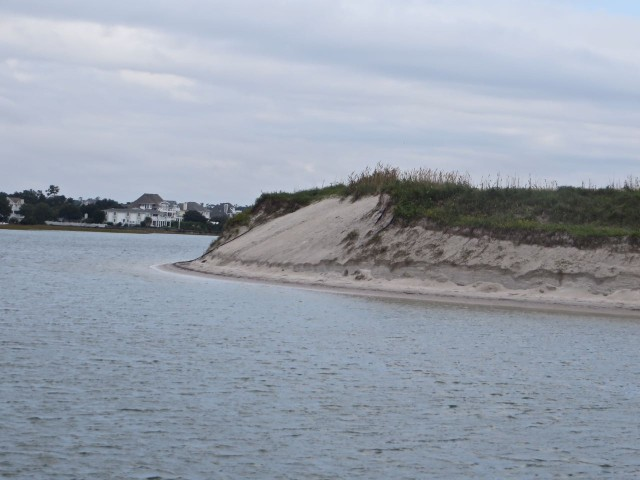 "The ""intersection"" of the channel leaving Wrightsville Beach and the ICW - turn left to go south!"