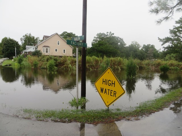 """HIGH WATER"" says it all. And it only got worse in the days that followed this photo."
