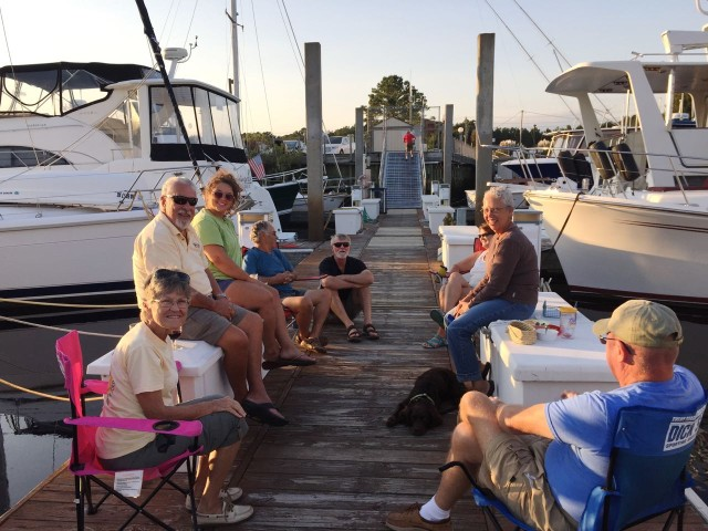 A little dock party get-together.