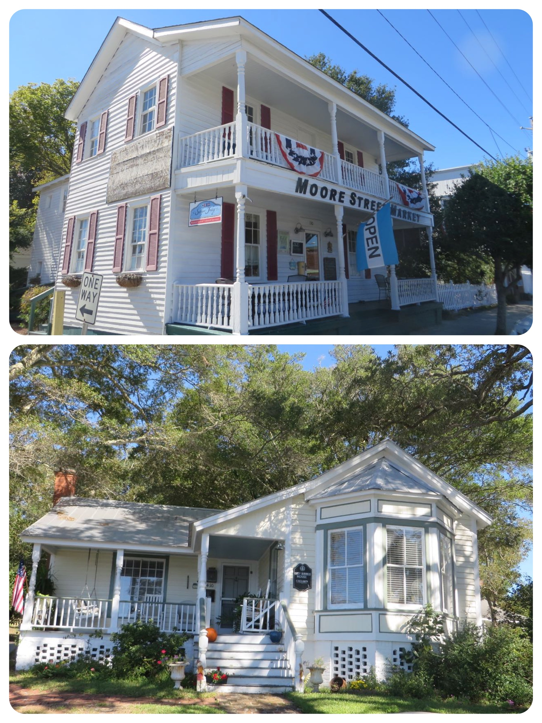 Top photo - Moore Street Market Bottom - Josh Duhamel's home. I actually photographed this house and included it in the blog from our 2013 visit. It's a darling little house right across from the docks.