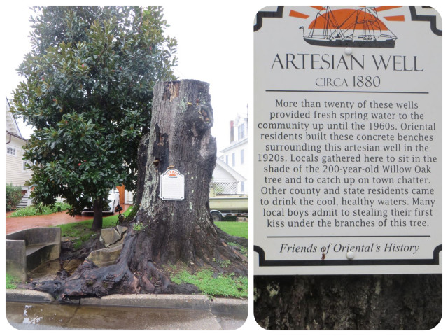 I liked the story of the artesian wells and the concrete bench.