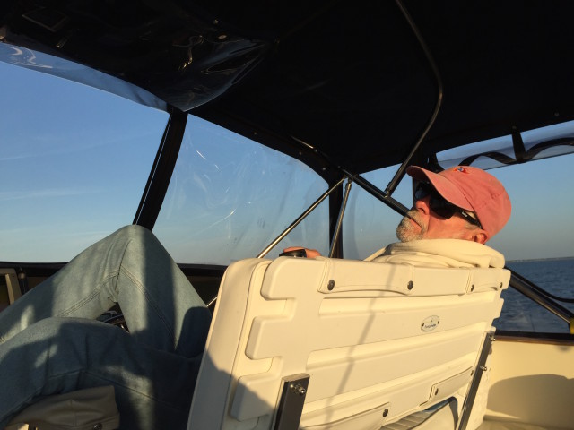 With autopilot, the Captain can relax and just keep a watch on the surroundings.